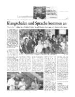 2006_11 Klagschalen und Sprache kommen an